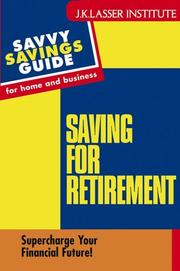 Cover of: Saving for retirement