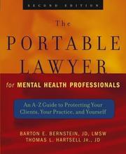 Cover of: The portable lawyer for mental health professionals | Barton E. Bernstein