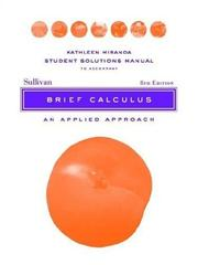 Cover of: Brief Calculus, Student Solutions Manual