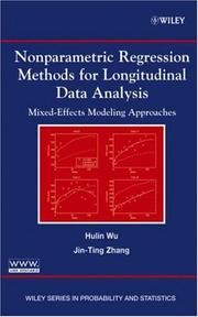Cover of: Nonparametric regression methods for longitudinal data analysis | Hulin Wu