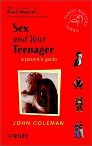 Cover of: Sex and Your Teenager