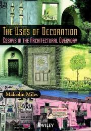 Cover of: The Uses of Decoration | Malcolm Miles