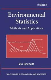 Cover of: Environmental Statistics
