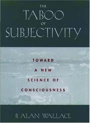 Cover of: The Taboo of Subjectivity | B. Alan Wallace