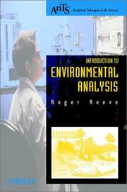 Cover of: Introduction to Environmental Analysis (Analytical Techniques in the Sciences)