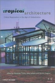 Cover of: Tropical architecture