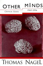 Cover of: Other Minds: Critical Essays 1969-1994