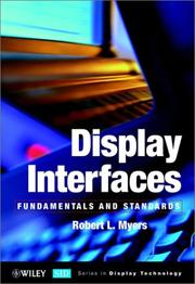 Cover of: Display interfaces | Myers, Robert L.
