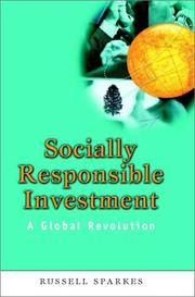 Cover of: Socially Responsible Investment | Russell Sparkes