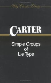 Cover of: Simple Groups of Lie Type