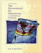 Cover of: The management of operations