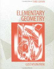 Cover of: Elementary geometry