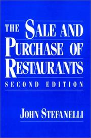 Cover of: The sale and purchase of restaurants