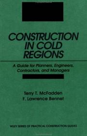 Cover of: Construction in cold regions | Terry T. McFadden