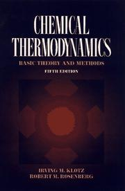Cover of: Chemical thermodynamics