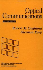 Cover of: Optical communications