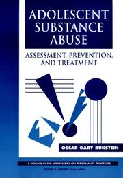 Cover of: Adolescent substance abuse | Oscar Gary Bukstein