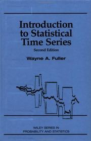Cover of: Introduction to statistical time series