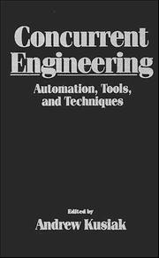 Cover of: Concurrent Engineering | Andrew Kusiak