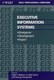 Cover of: Executive Information Systems | Hugh J. Watson, R. Kelly Rainer