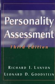 Personality assessment by Richard I. Lanyon