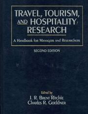 Cover of: Travel, tourism, and hospitality research |