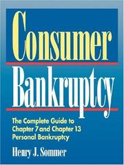 Cover of: Consumer bankruptcy