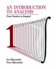 "Cover of: An introduction to analysis | Jan MikusiЕ""ski"