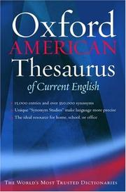 Cover of: The Oxford American thesaurus of current English |