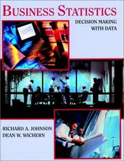 Cover of: Business Statistics | Richard A. Johnson