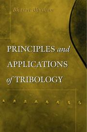 Cover of: Principles and Applications of Tribology