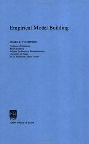 Cover of: Empirical model building | Thompson, James R.