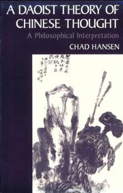 Cover of: A Daoist Theory of Chinese Thought | Chad Hansen