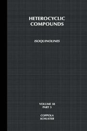 Cover of: Isoquinolines by