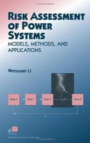 Risk assessment of power systems by Wenyuan Li