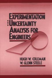 Cover of: Experimentation and uncertainty analysis for engineers