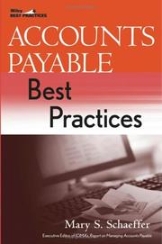 Cover of: Accounts Payable Best Practices