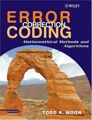 Cover of: Error Correction Coding