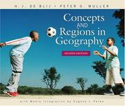 Cover of: Concepts and regions in geography