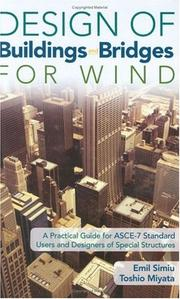 Cover of: Design of buildings and bridges for wind | Emil Simiu