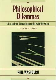 Cover of: Philosophical dilemmas