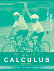 Cover of: Calculus, Student Study Guide: LT Combined | Howard Anton