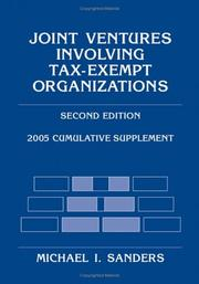 Cover of: Joint Ventures Involving Tax-Exempt Organizations, 2005 Cumulative Supplement