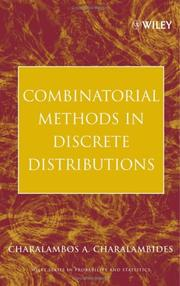 Cover of: Combinatorial Methods in Discrete Distributions | Charalambos A. Charalambides