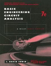 Cover of: Basic Engineering Circuit Analysis 7th Edition, Problem-Solving Companion | J. David Irwin