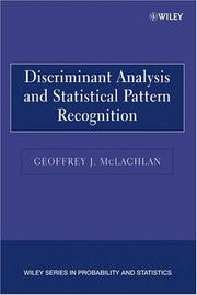 Cover of: Discriminant Analysis and Statistical Pattern Recognition