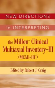 Cover of: New Directions in Interpreting the Millon Clinical Multiaxial Inventory-III (MCMI-III)