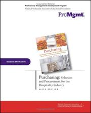 Cover of: Purchasing, Student Workbook | Andrew H. Feinstein