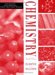Cover of: Chemistry, Student Solutions Manual | John A. Olmsted