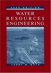 Cover of: Water Resources Engineering